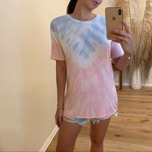 🆕LAST3 • Summer Time Tie Dye Tee, Pink/Blue